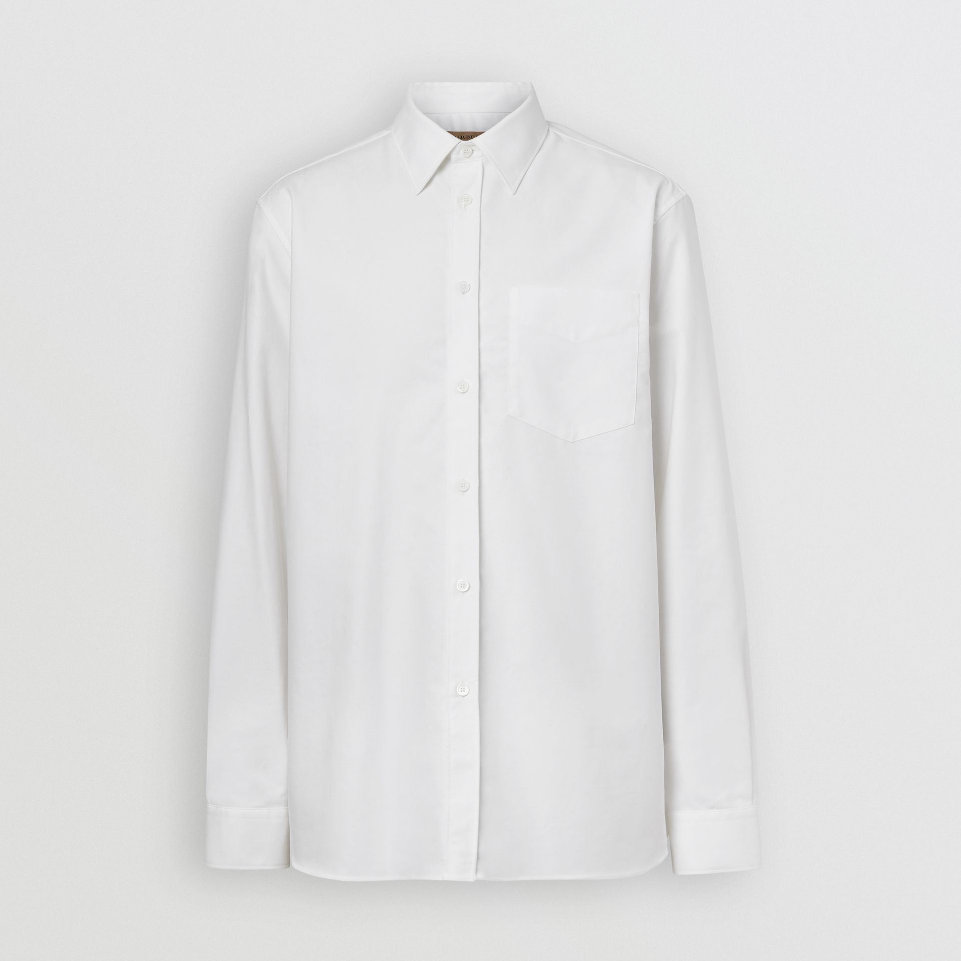 EKD Appliqué Cotton Oxford Shirt in White - Men | Burberry Singapore - gallery image 3