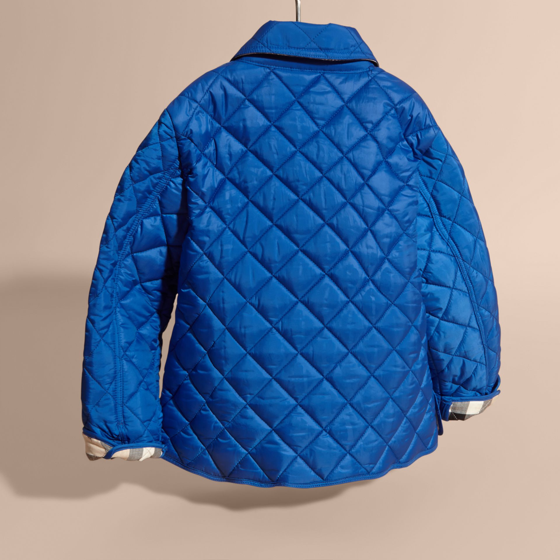 Diamond Quilted Jacket in Brilliant Blue - gallery image 4