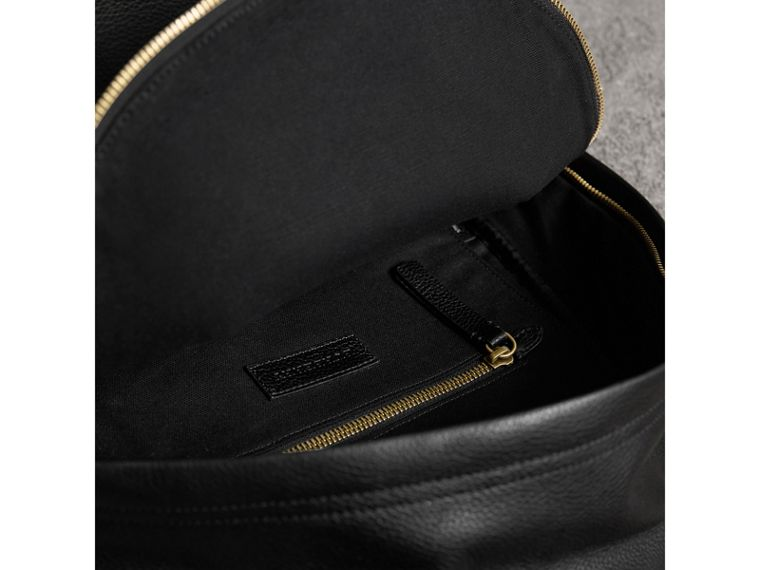Canvas Check and Leather Backpack in Black - Men | Burberry United Kingdom - cell image 4