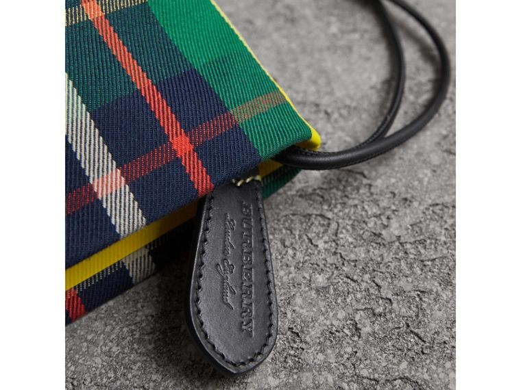 Tartan Cotton Clutch in Forest Green/deep Navy | Burberry - cell image 1
