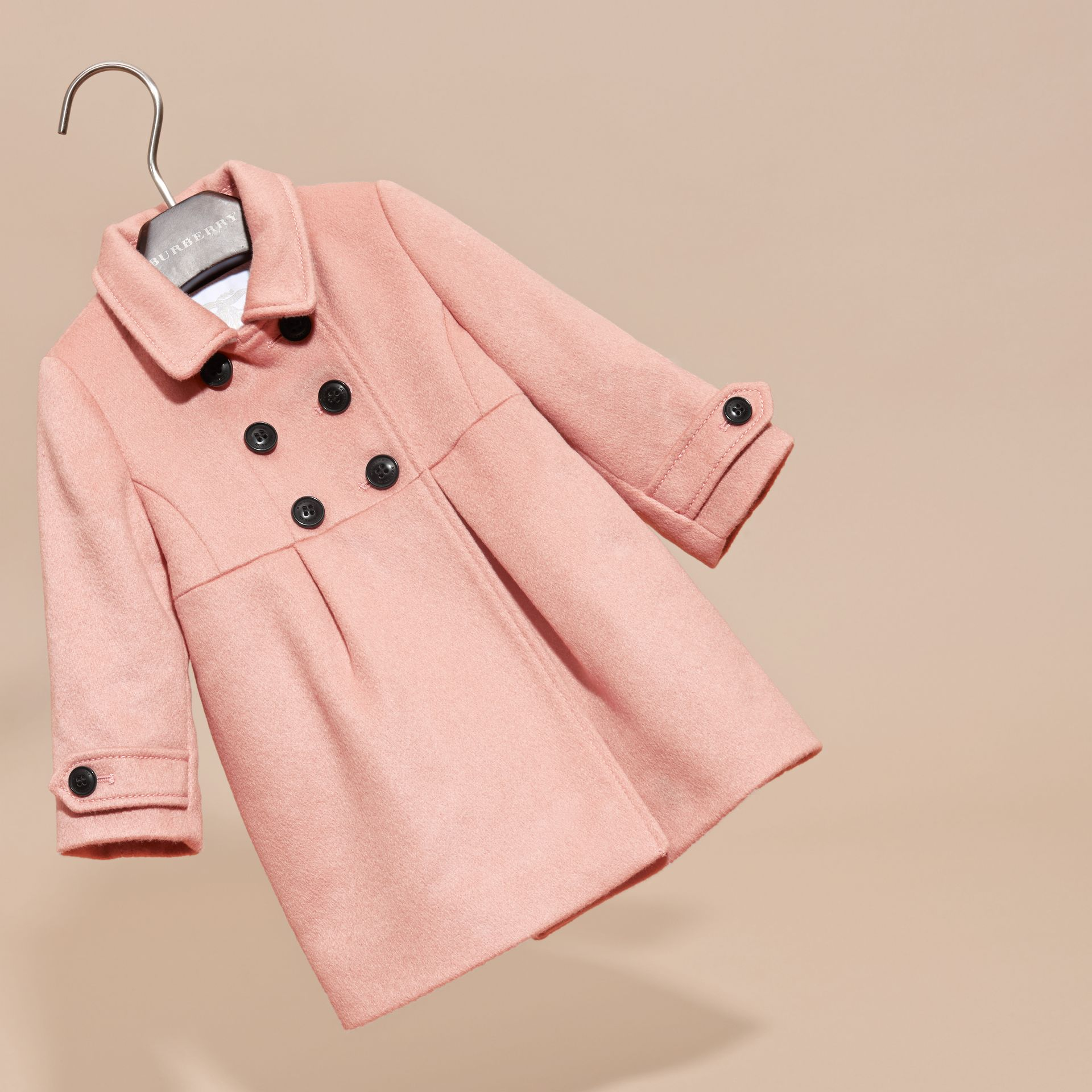 Chalk pink Tailored Cashmere Coat Chalk Pink - gallery image 3