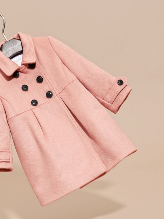 Tailored Cashmere Coat in Chalk Pink - cell image 2
