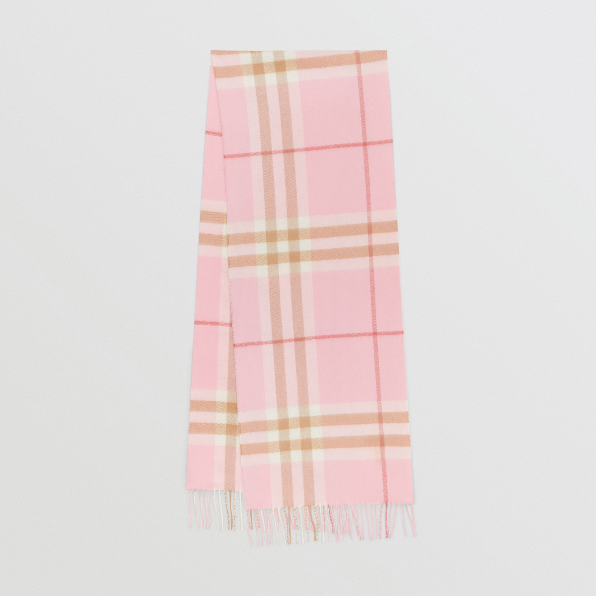 The Classic Check Cashmere Scarf in Candy Pink | Burberry - gallery image 0