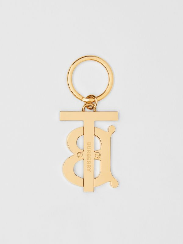 Monogram Motif Gold-plated Key Charm in Rose Beige - Women | Burberry - cell image 2