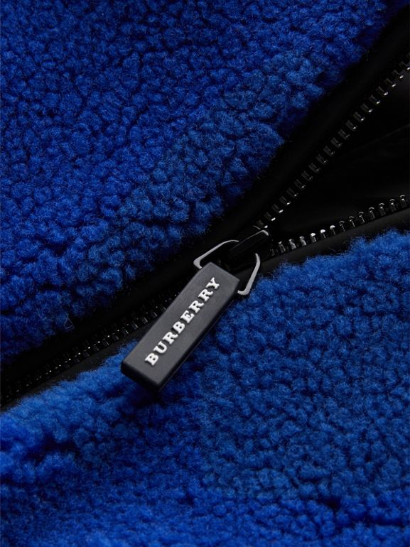 Faux Shearling Jacket in Cobalt Blue - Children | Burberry United Kingdom - cell image 1