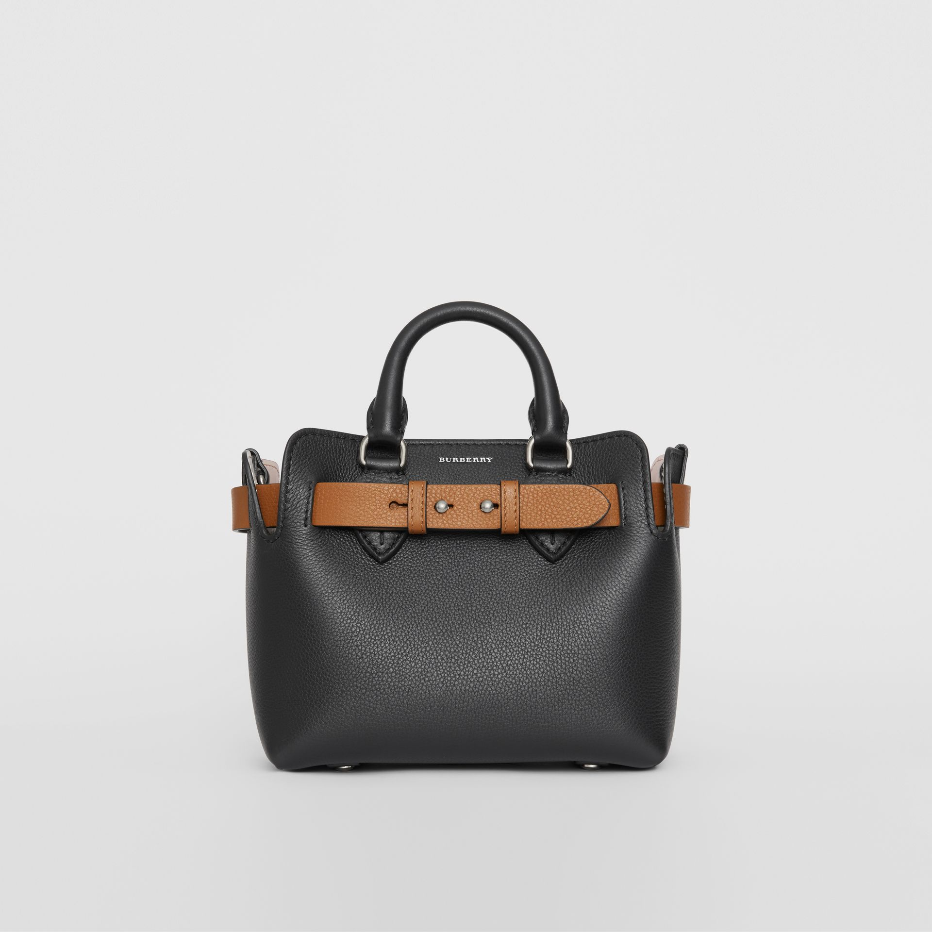 The Mini Leather Belt Bag in Black - Women | Burberry - gallery image 0