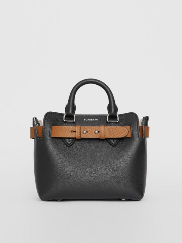The Mini Leather Belt Bag in Black
