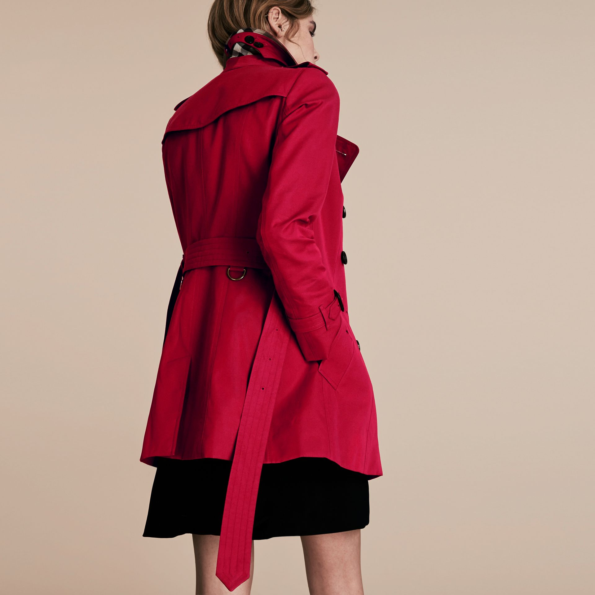 Parade red The Chelsea – Short Heritage Trench Coat Parade Red - gallery image 3