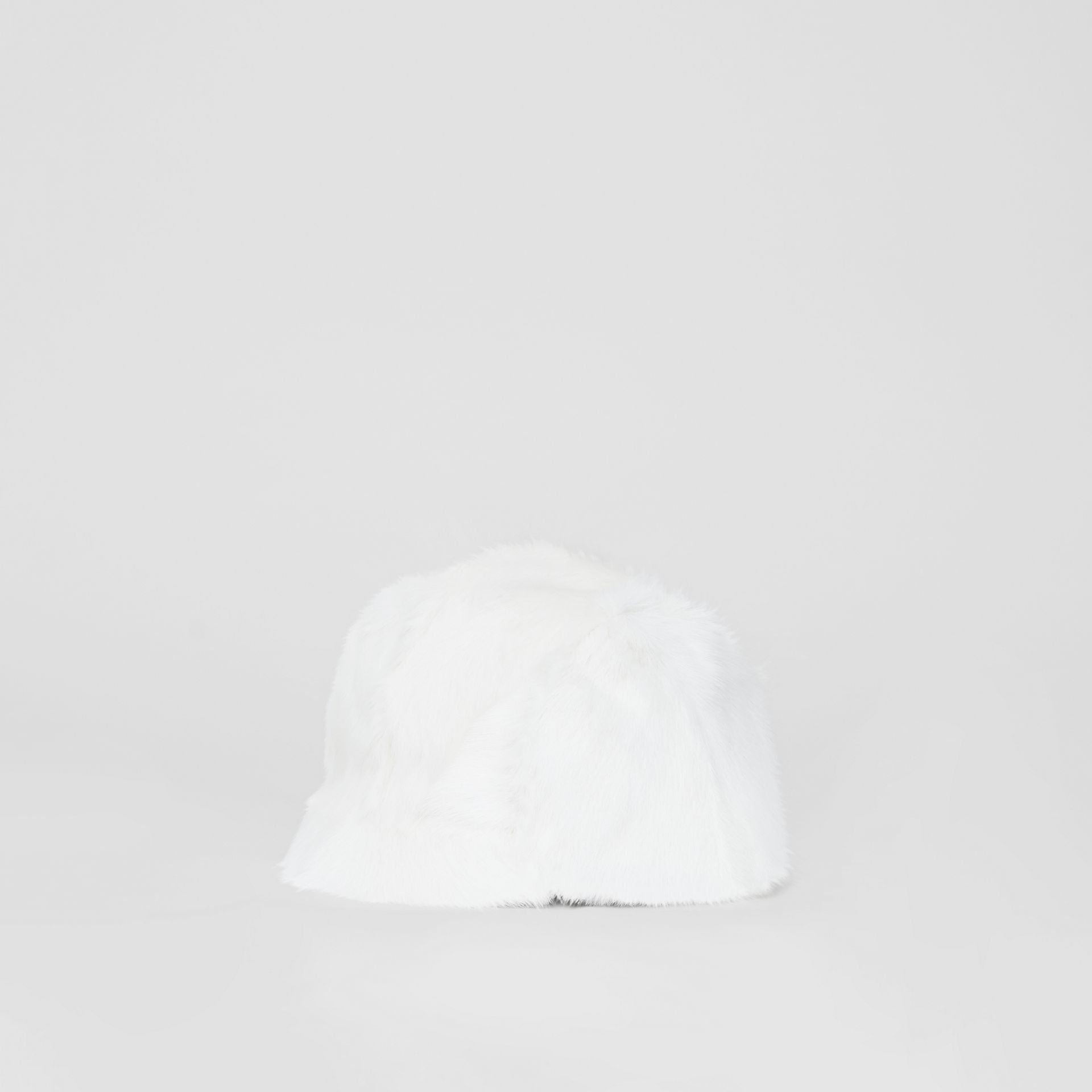 Goat Pilot Cap in White | Burberry United Kingdom - gallery image 4