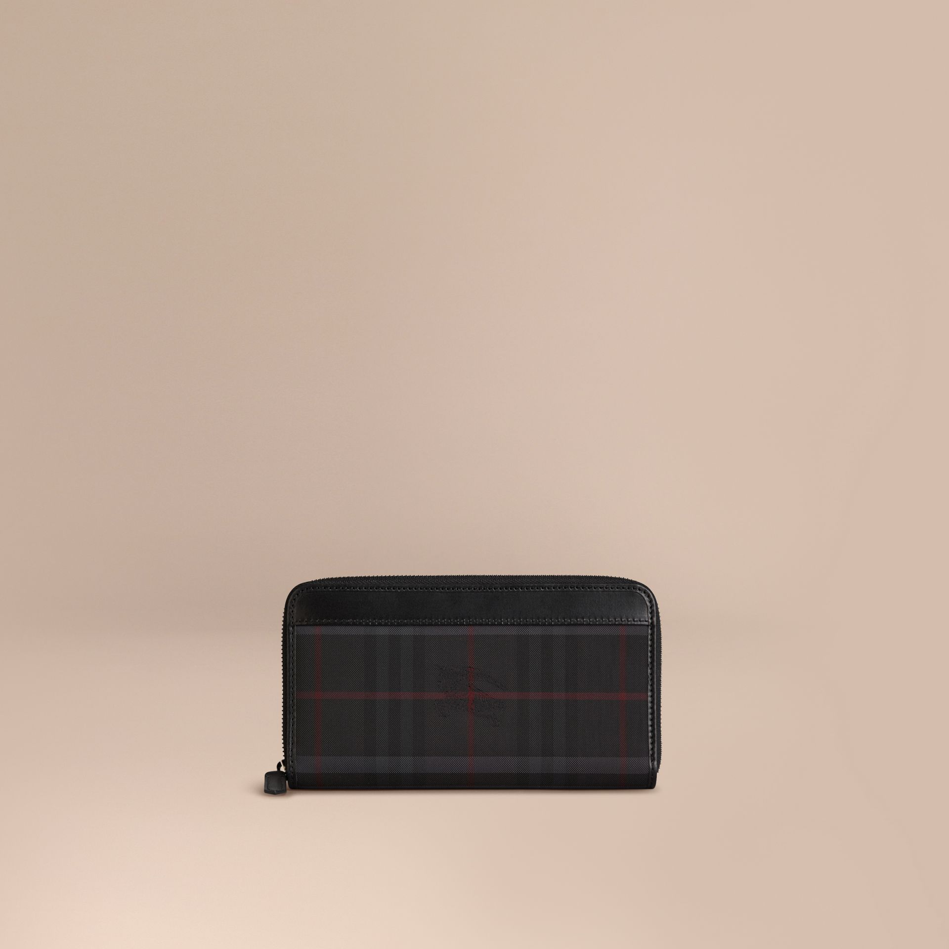 Horseferry Check Ziparound Wallet in Charcoal/black - Men | Burberry Canada - gallery image 1