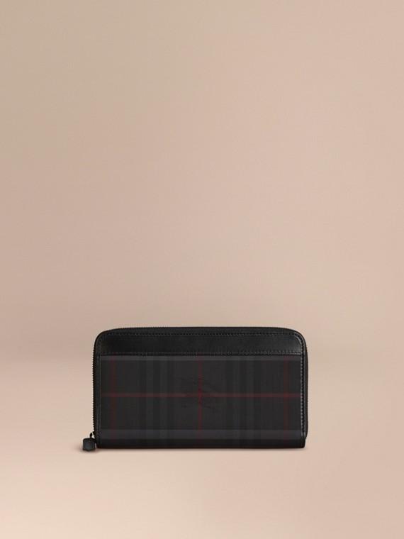 Бумажник в клетку Horseferry Check (Древесный Уголь/ Черный) - Для мужчин | Burberry