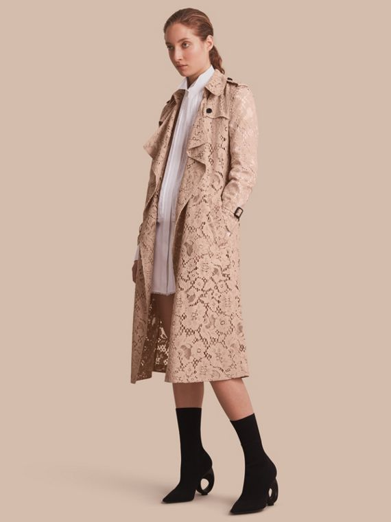 Macramé Lace Wrap Trench Coat