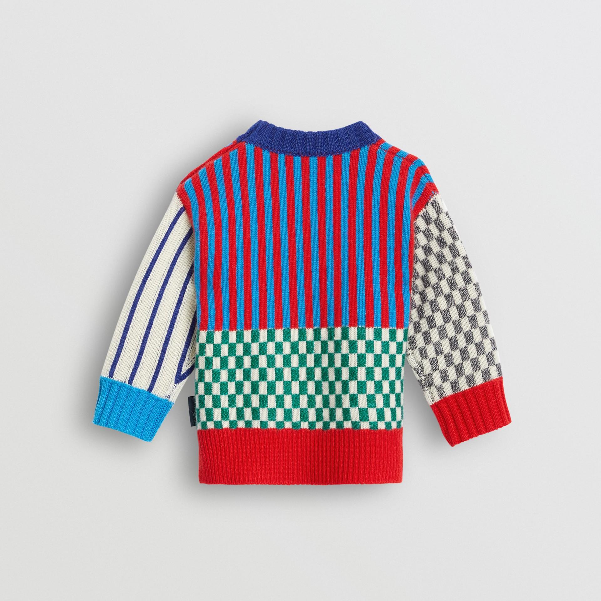 Graphic Cashmere Jacquard Sweater in Multicolour - Children | Burberry United Kingdom - gallery image 3