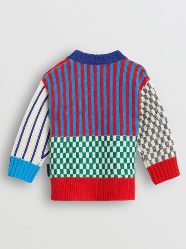 Graphic Cashmere Jacquard Sweater in Multicolour - Children | Burberry United Kingdom - cell image 3