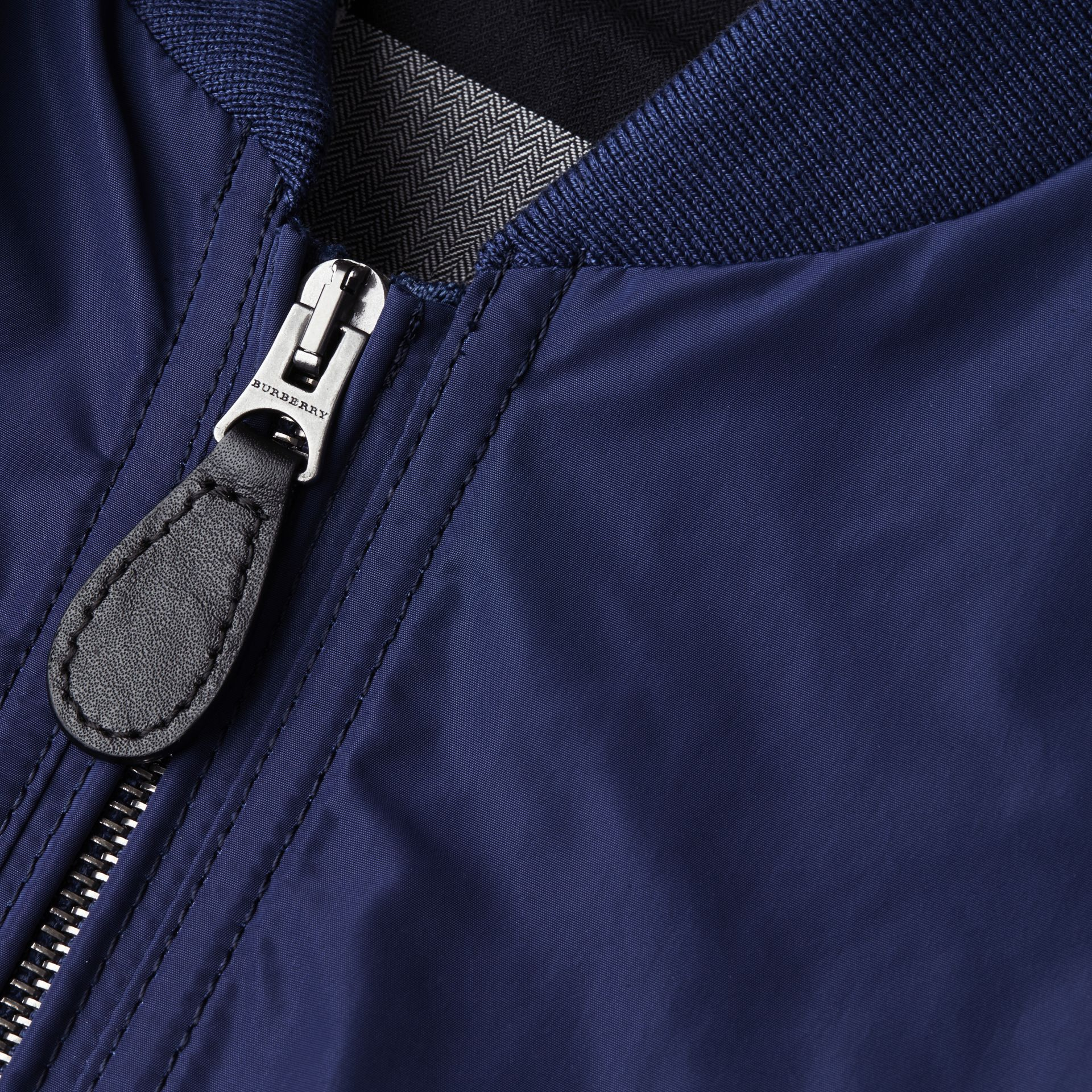 Jet blue Showerproof Bomber Jacket Jet Blue - gallery image 2