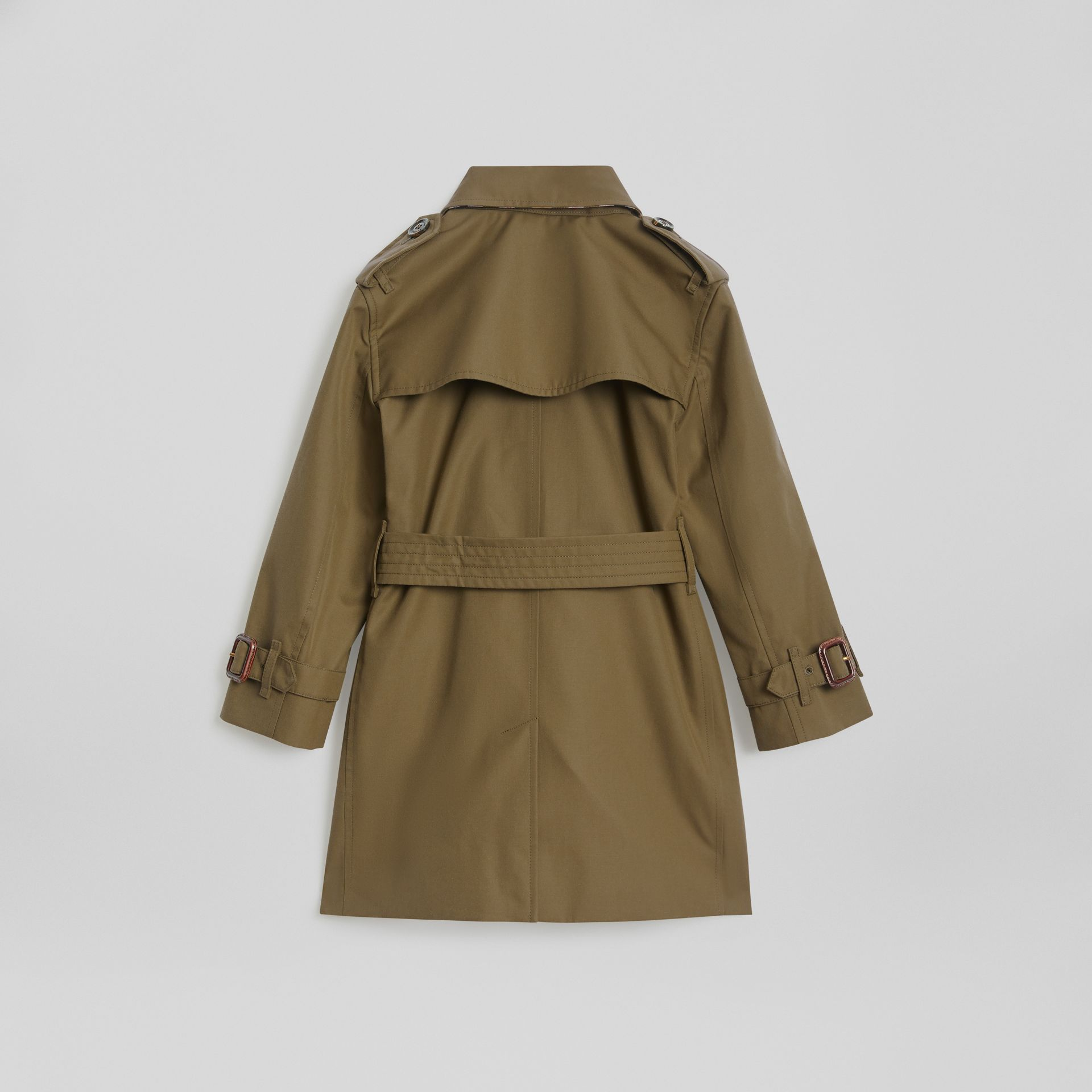 Cotton Gabardine Trench Coat in Military Olive | Burberry - gallery image 3
