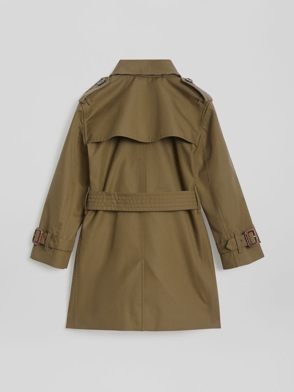 Cotton Gabardine Trench Coat in Military Olive | Burberry - cell image 3