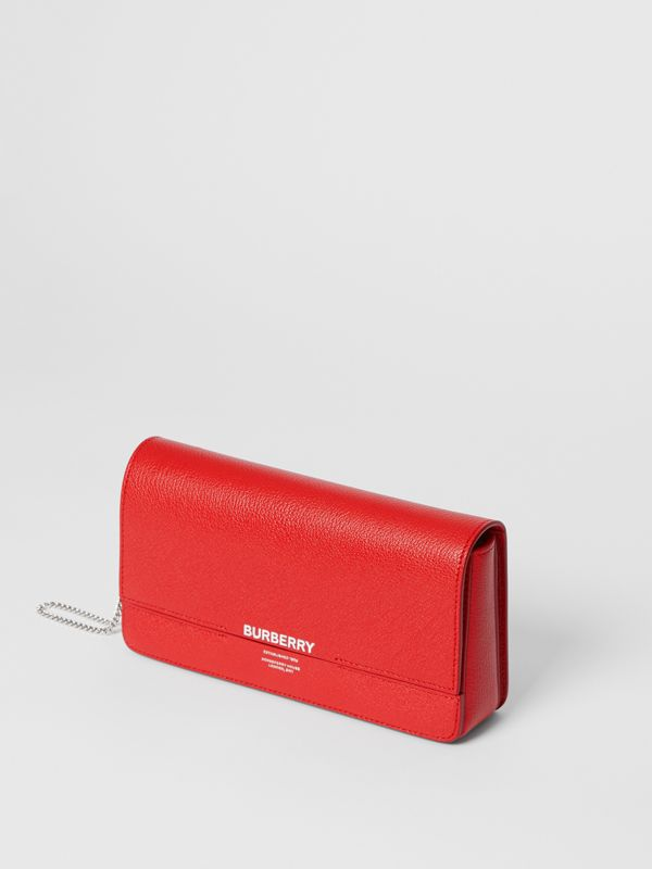 Leather Grace Clutch in Bright Military Red - Women | Burberry - cell image 3