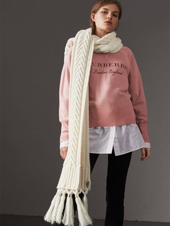 Lightweight Merino Wool Silk Sweater in Ash Rose