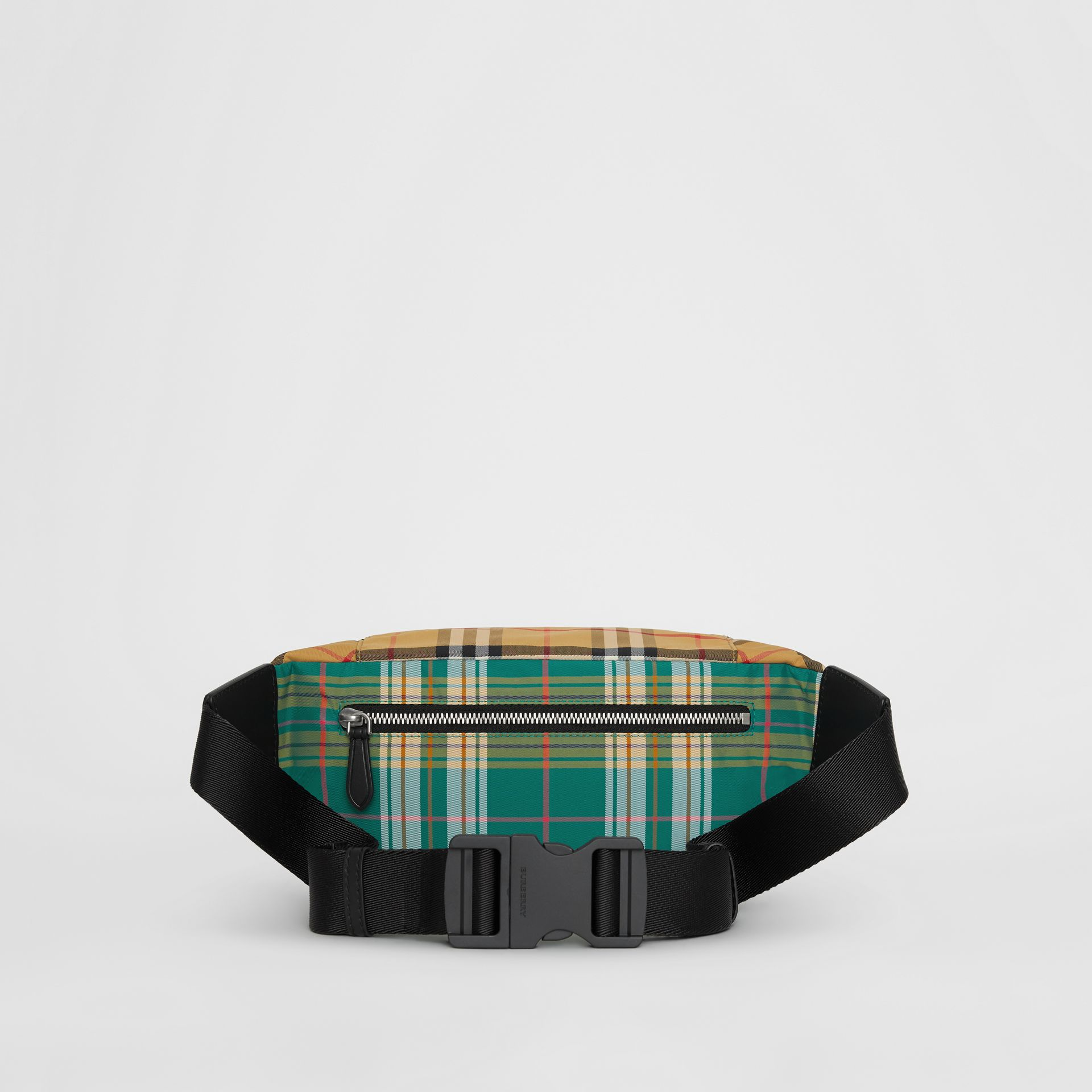 Medium Vintage Check and Tartan Bum Bag in Pine Green | Burberry Australia - gallery image 7