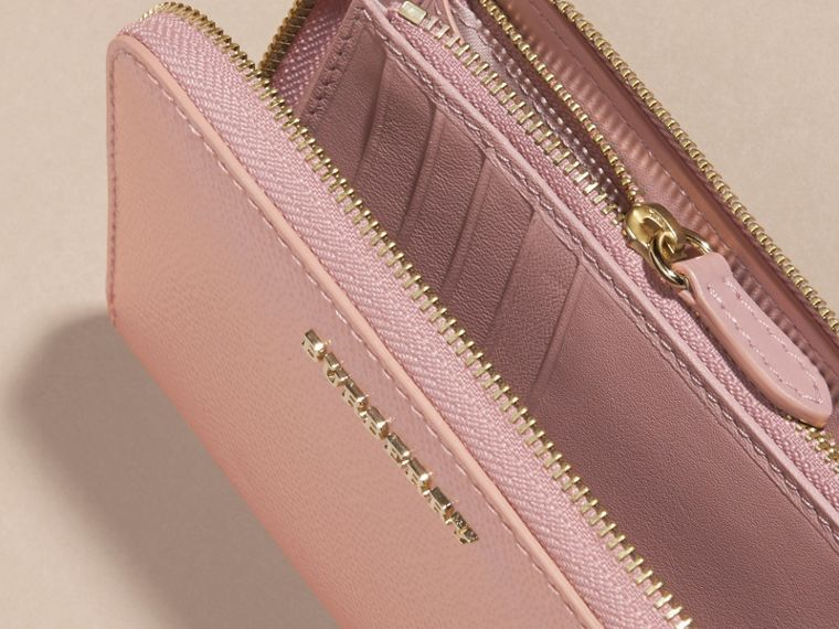 Patent London Leather Ziparound Wallet in Ash Rose - cell image 4