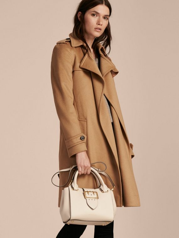 The Small Buckle Tote in Grainy Leather in Limestone - Women | Burberry Australia - cell image 2