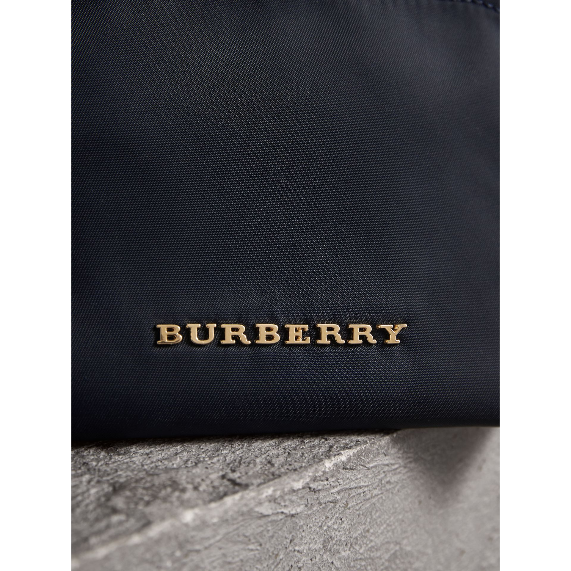 Small Zip-top Technical Nylon Pouch in Ink Blue - Women | Burberry - gallery image 5