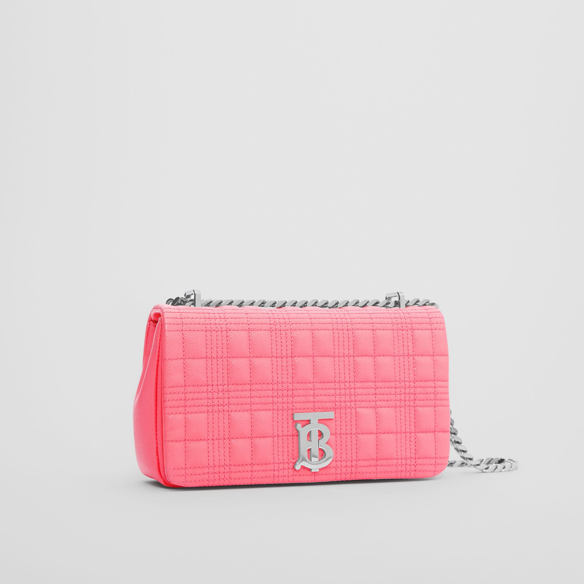 Small Quilted Grainy Leather Lola Bag in Candy Floss - Women | Burberry - gallery image 3