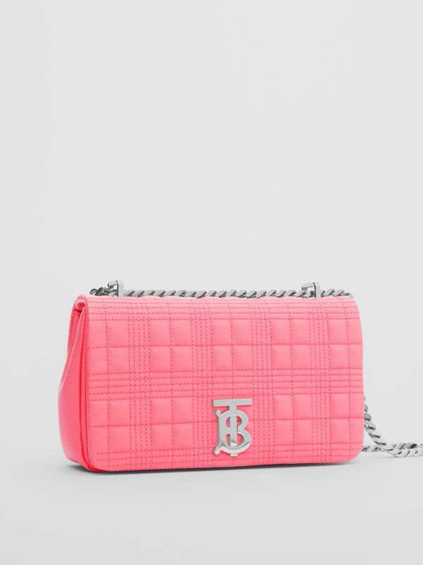 Small Quilted Grainy Leather Lola Bag in Candy Floss - Women | Burberry - cell image 3
