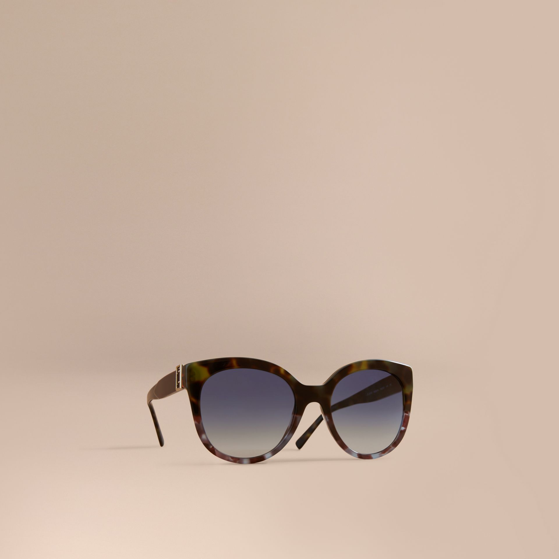 Buckle Detail Cat-eye Frame Sunglasses in Apple Green - Women | Burberry - gallery image 1