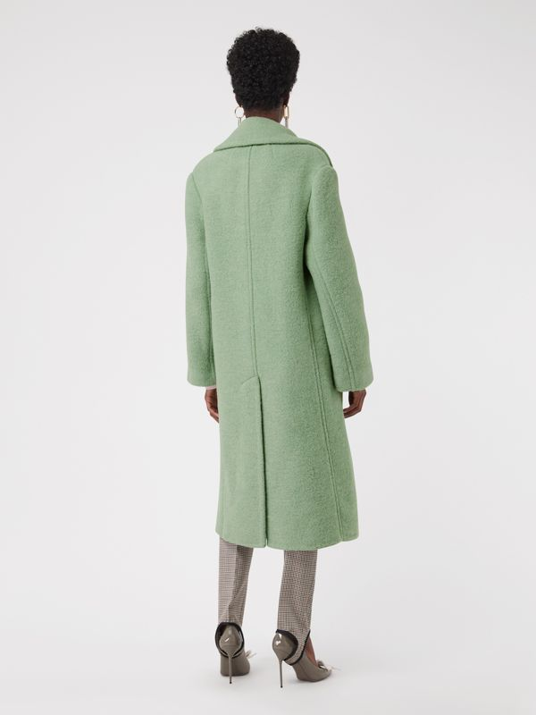Double-faced Wool Alpaca Blend Oversized Coat in Celadon Green - Women | Burberry - cell image 2