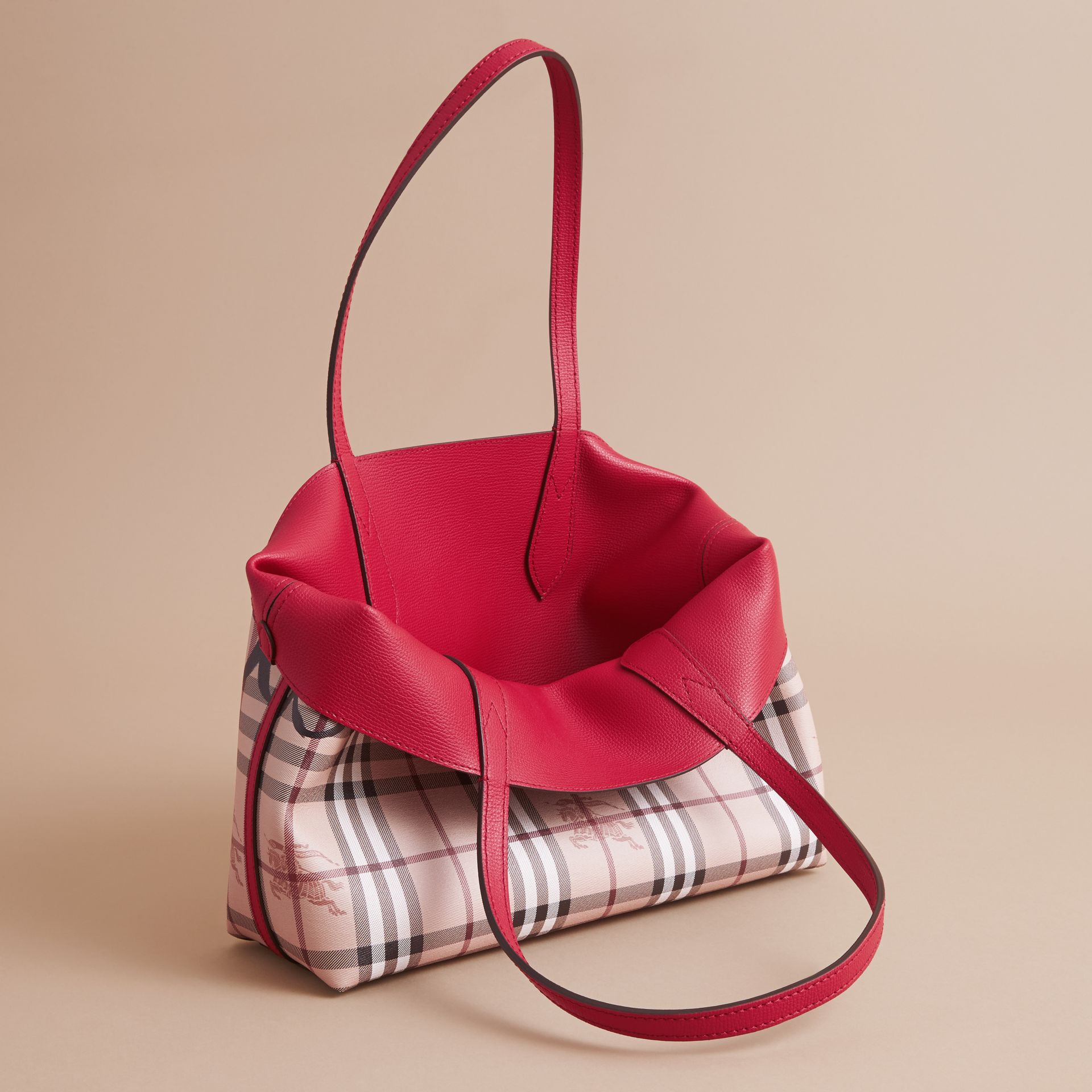The Small Reversible Tote in Trompe L'oeil Print - gallery image 6