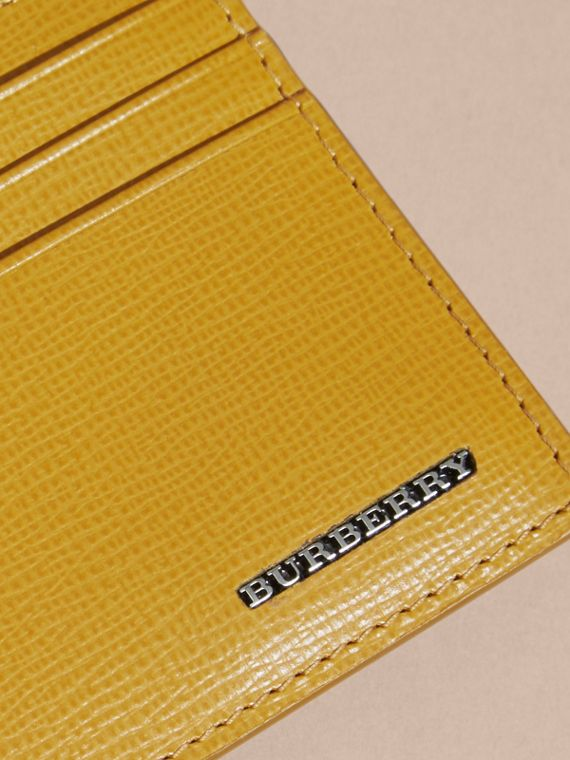 London Leather Card Case Larch Yellow - cell image 2