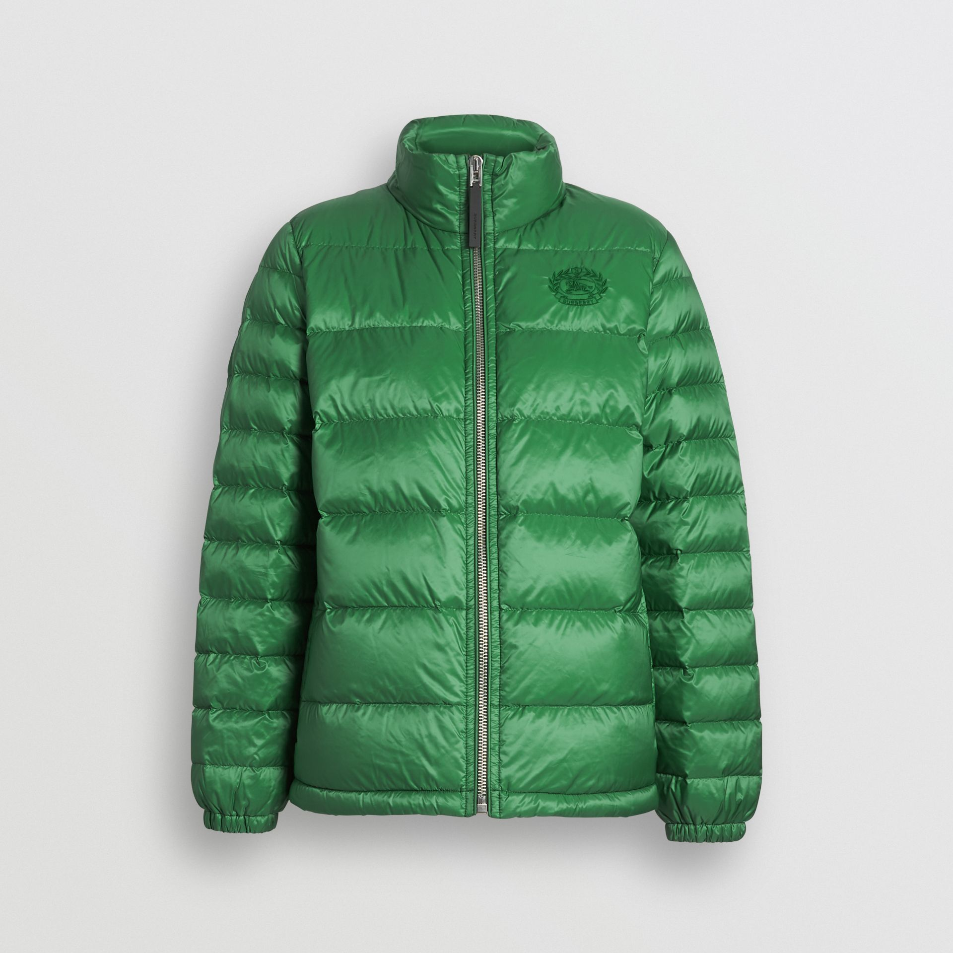 Down-filled Puffer Jacket in Emerald Green - Women | Burberry - gallery image 3