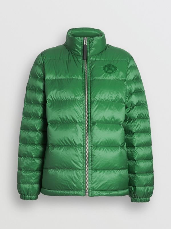 Down-filled Puffer Jacket in Emerald Green - Women | Burberry - cell image 3
