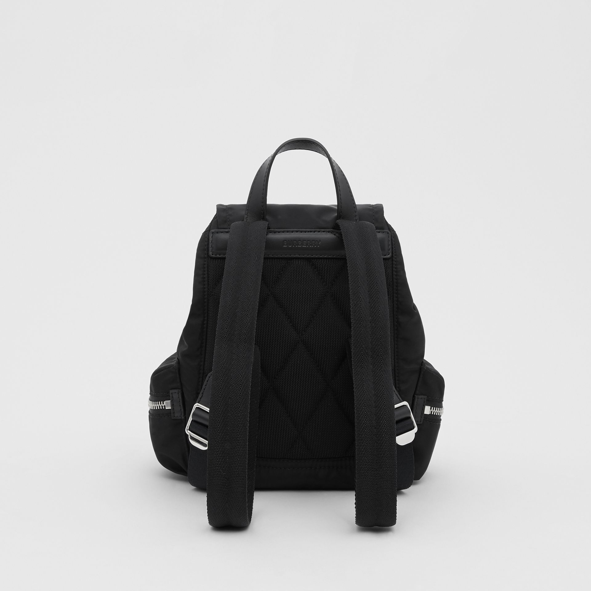 The Small Rucksack in Logo Print ECONYL® in Black - Women | Burberry - gallery image 7