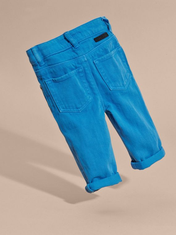 Chalk blue Skinny Fit Check Detail Jeans - cell image 3