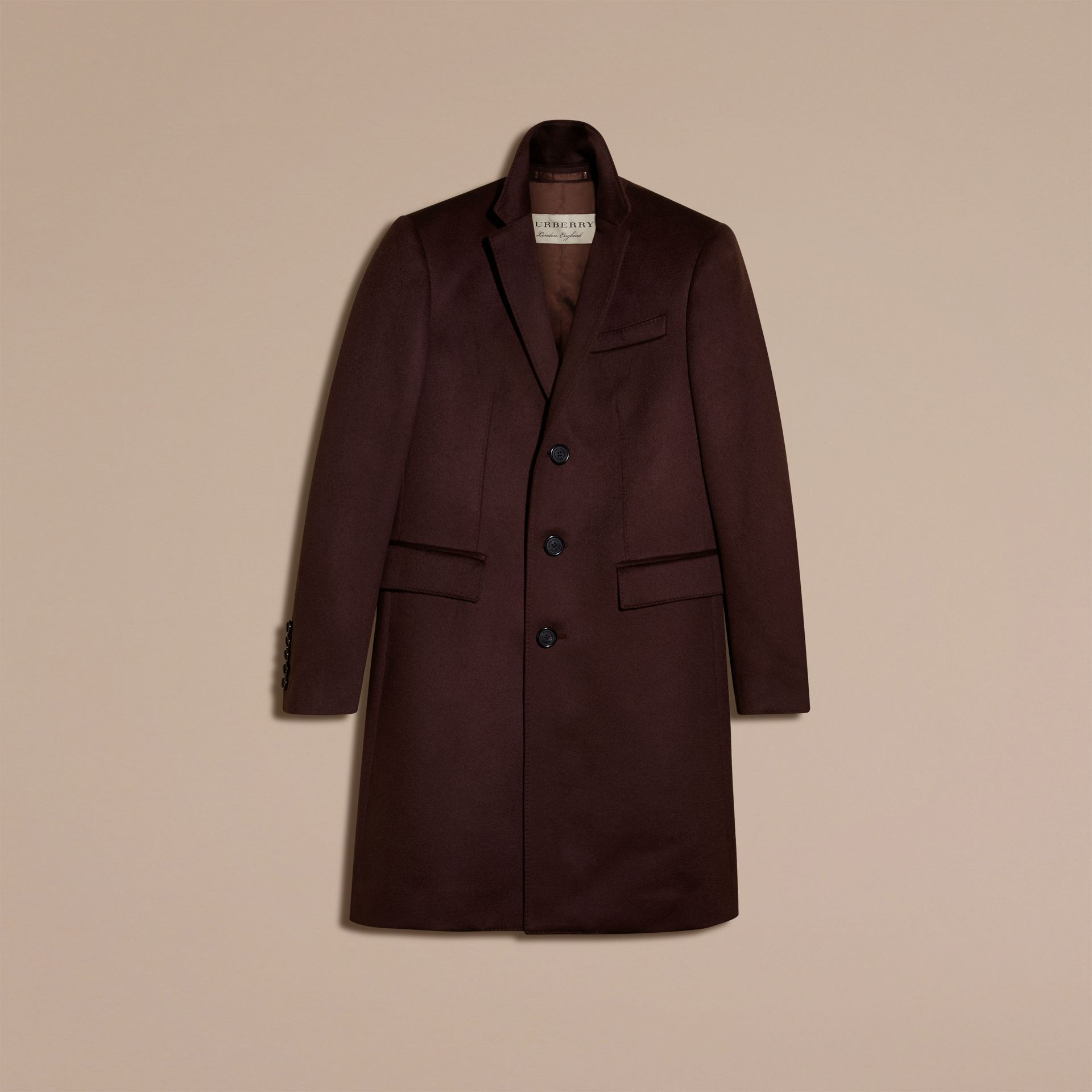 Plum Cashmere Overcoat - gallery image 4