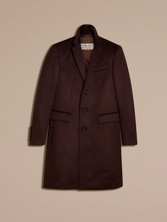 Plum Cashmere Overcoat - cell image 3