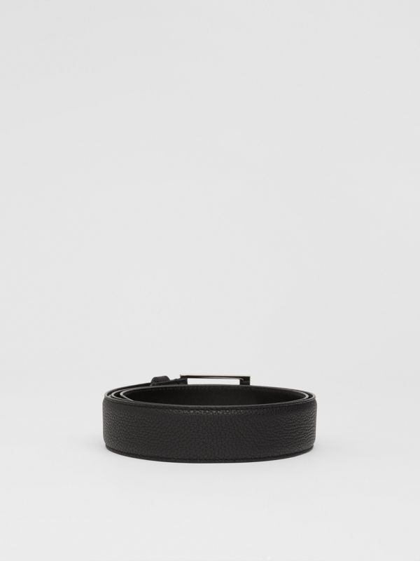 Grainy Leather Belt in Black | Burberry United Kingdom - cell image 3