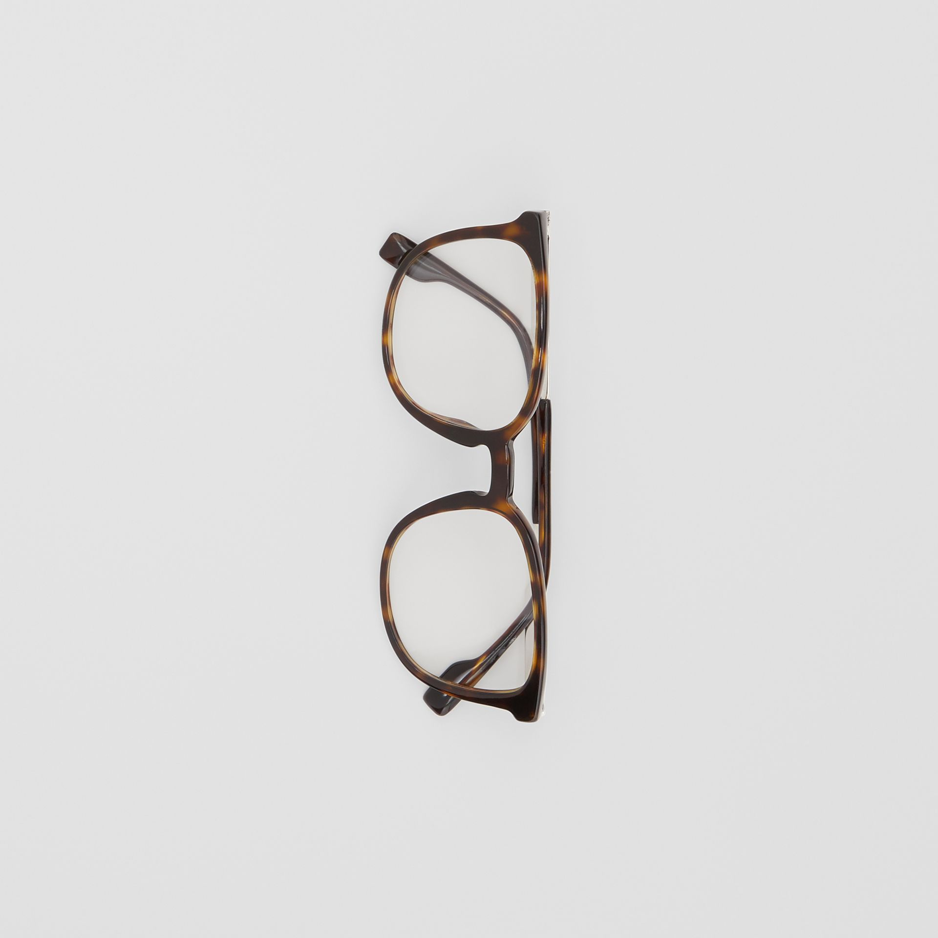 Square Optical Frames in Tortoiseshell | Burberry - gallery image 2