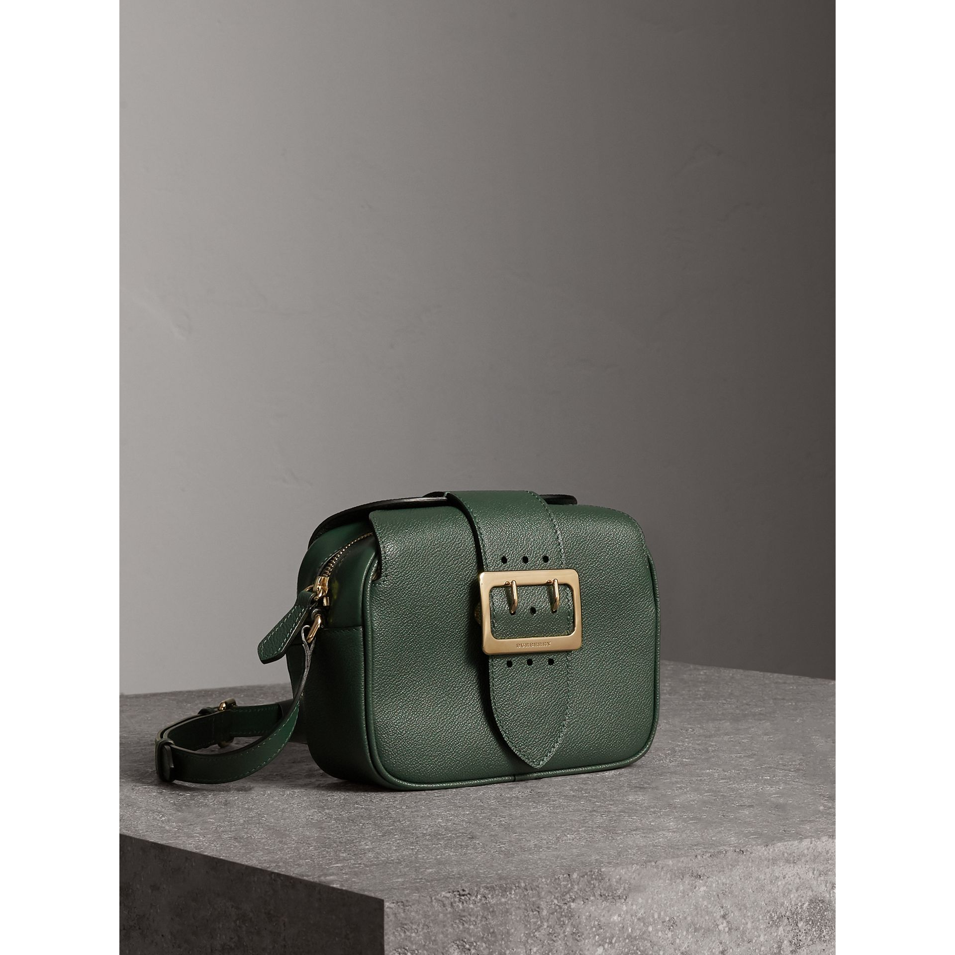 The Small Buckle Crossbody Bag in Leather in Sea Green - Women | Burberry - gallery image 6