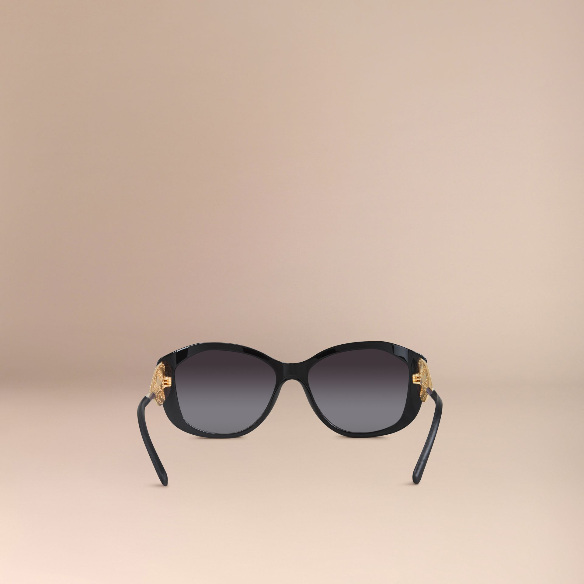 Gabardine Collection Square Frame Sunglasses Black - gallery image 3