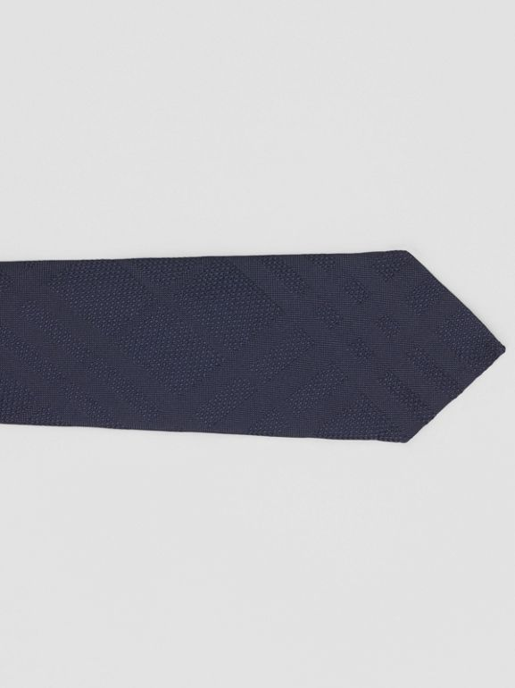 Classic Cut Check Silk Jacquard Tie in Navy - Men | Burberry United Kingdom - cell image 1