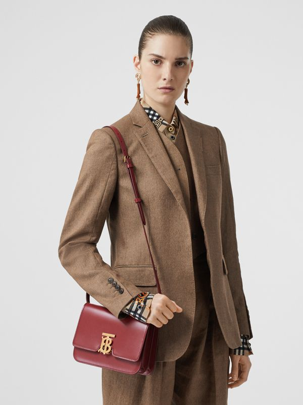 Medium Leather TB Bag in Crimson - Women | Burberry - cell image 2