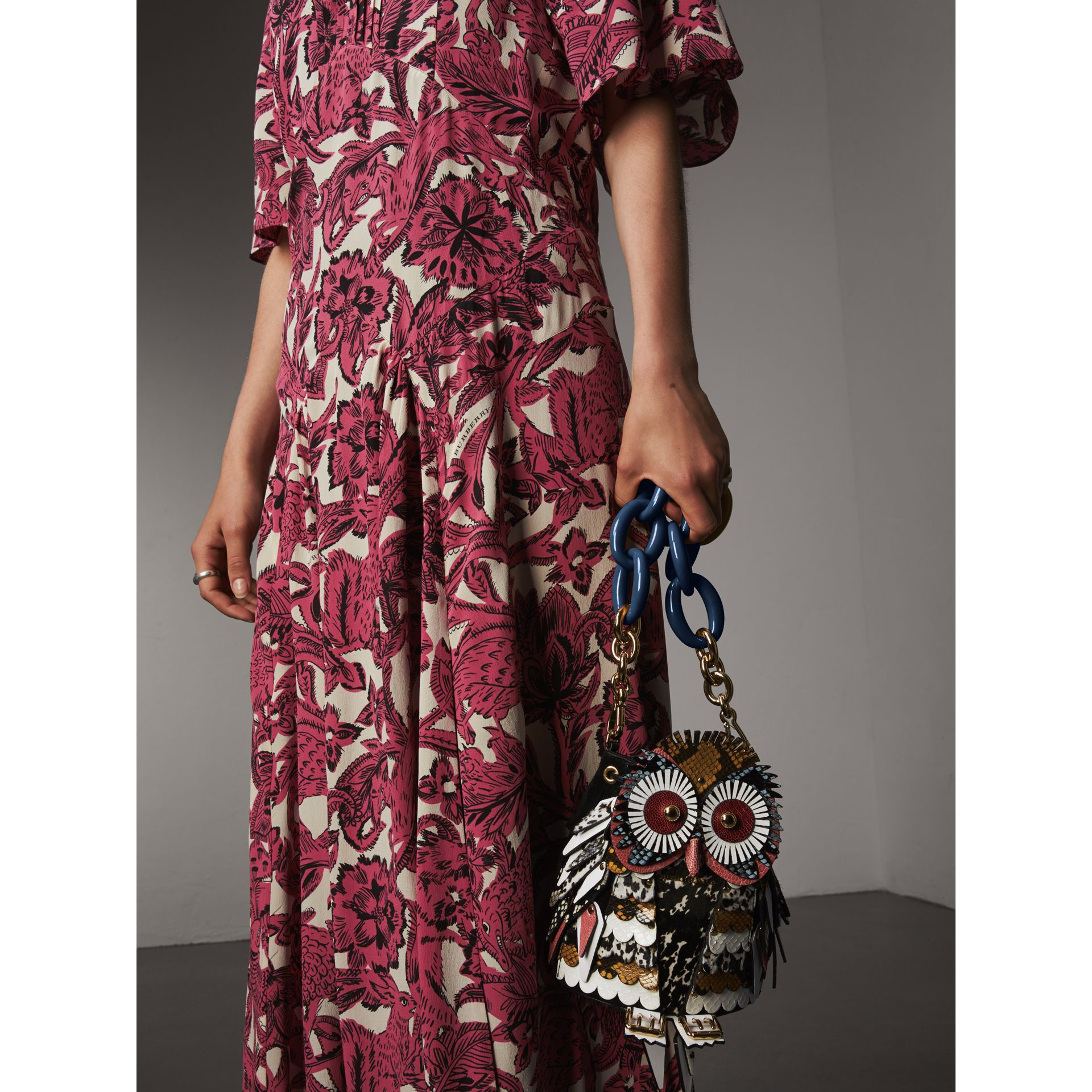 The Owl – Calf Suede and Calf Hair Crossbody Bag - Women | Burberry - gallery image 4