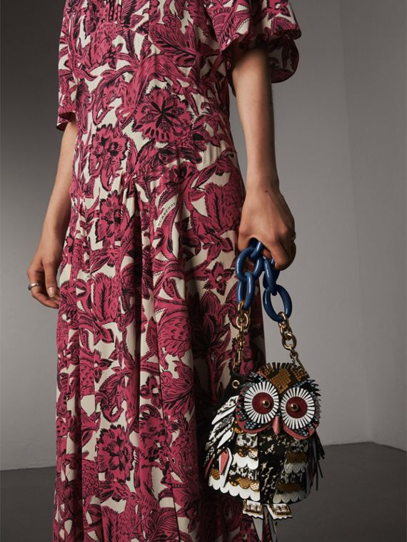 The Owl – Calf Suede and Calf Hair Crossbody Bag - Women | Burberry - cell image 3