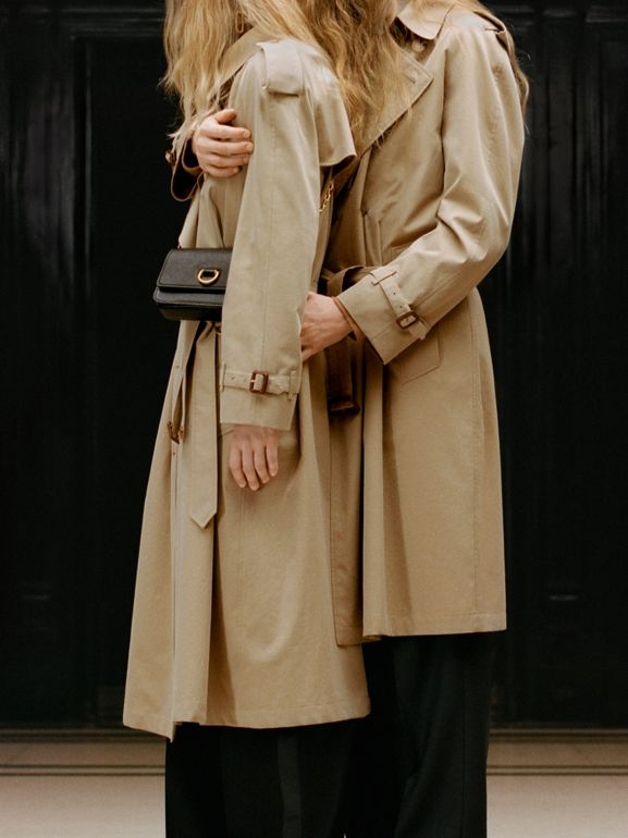 The Long Westminster Heritage Trench Coat in Honey - Women | Burberry United Kingdom - cell image 1