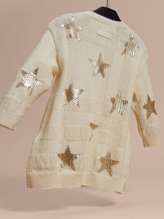 Ivory Star Print Check Cashmere Dress - cell image 3