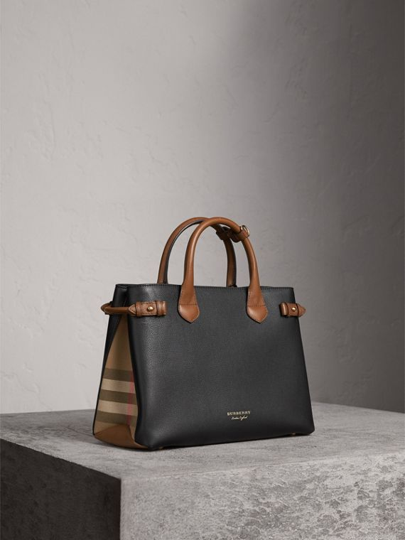 Sac The Banner moyen en cuir bicolore - Femme | Burberry
